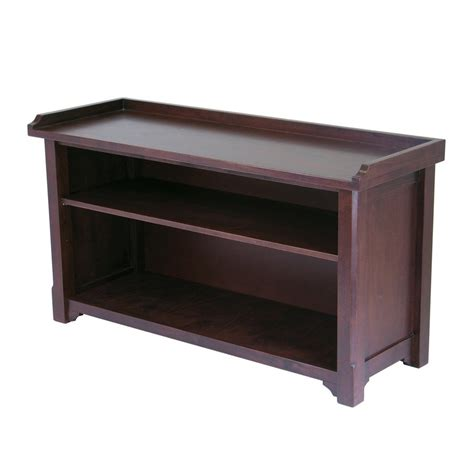 indoor bench storage shop winsome wood verona antique walnut indoor entryway