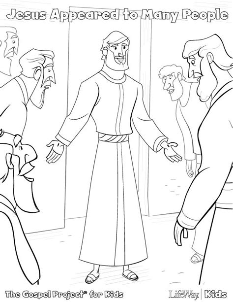 coloring pages jesus appears to the disciples jesus is alive coloring page az coloring pages