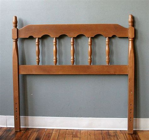 twin headboard wood vintage mid century solid wood twin size bed headboard