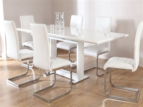 white chair dining set contemporary kitchen tables and chairs white dining table