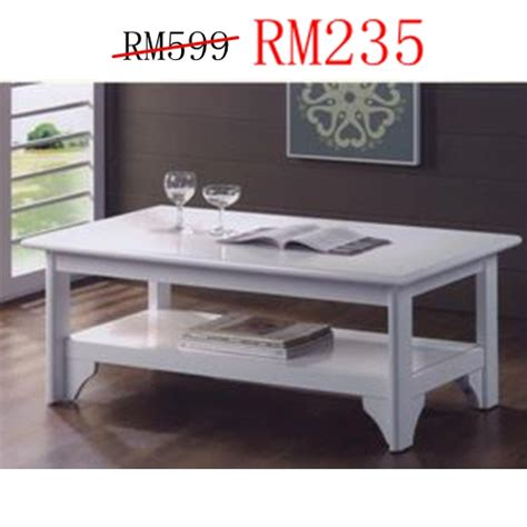 Coffee Table Scandi Putih living room design ideal home furniture