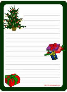 printable stationery template with tree and gifts