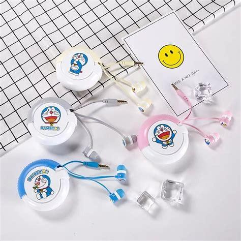 Earphone Doraemon doraemon 3 5mm in ear stereo earphone lovely earbud with microphone for iphone