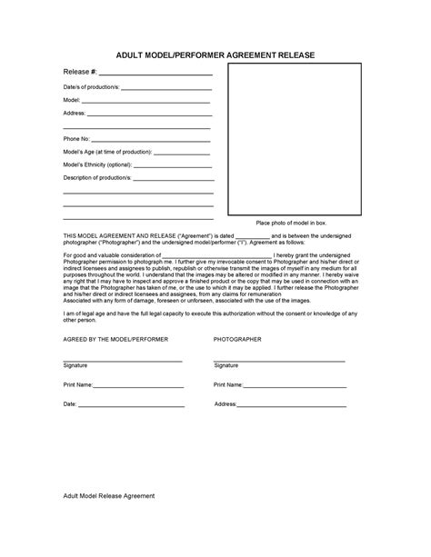 photography model release form template model release forms