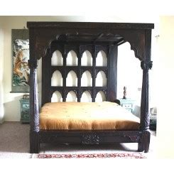 Farah Canopy Antique Bed 6 indian style wooden canopy beds four poster beds with canopy worldcraft industries