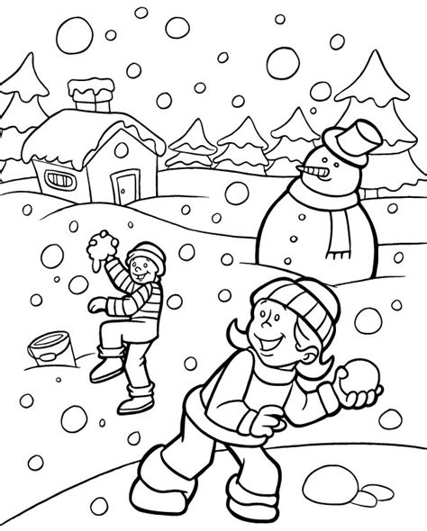 Winter Coloring Pages 9 Coloring Kids Coloring Pages Of Winter
