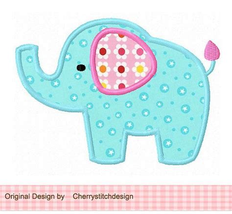 cute elephant pattern free elephant applique pattern elephant 04 applique 4x4