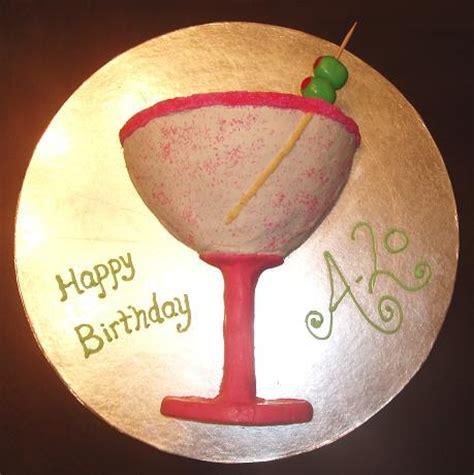 Martini Glass Shaped Cake