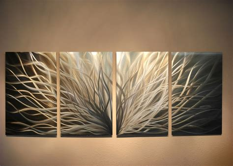 modern metal wall decor abstract metal wall radiance gold silver