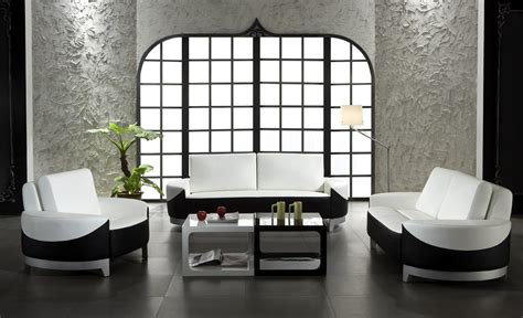Black And White Chairs Living Room Unique Design Black And White Living Room Leather Furniture Decosee