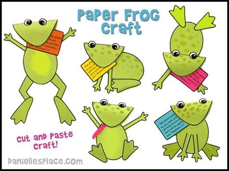 Learn Paper Crafts - activities frog crafts and learning activities on