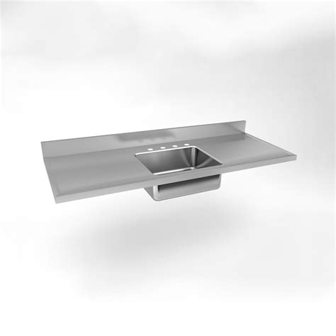 just manufacturing sm 60 20 single bowl drainboard