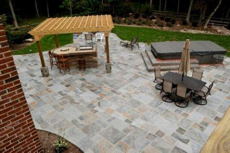 How Much Does Backyard Landscaping Cost Stamped Concrete Adds Affordable Appeal To Outdoor Patios