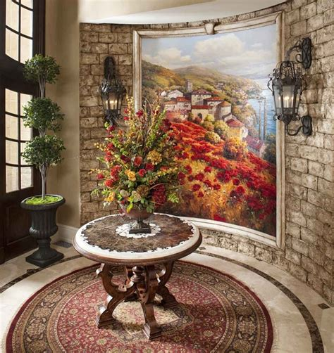 foyer table tuscan style decorating entry foyer italian style abode foyer mediterranean entry los