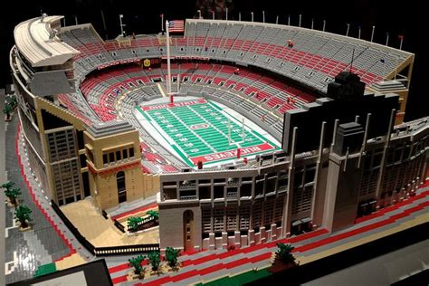 spaceship cus apple lego build of the ohio state stadium awesome lego builds