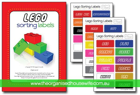 printable lego labels lego sorting and organising labels the organised housewife