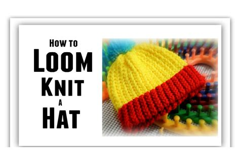 how to knit a hat loom knit hat for beginners step by step all sizes make
