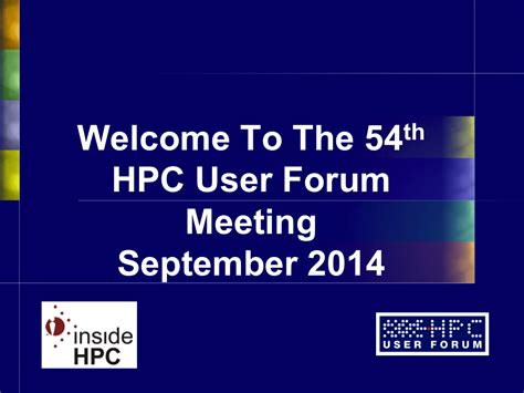 Hpc Research Papers by Gallery Hpc User Forum 2014 In Seattle Insidehpc