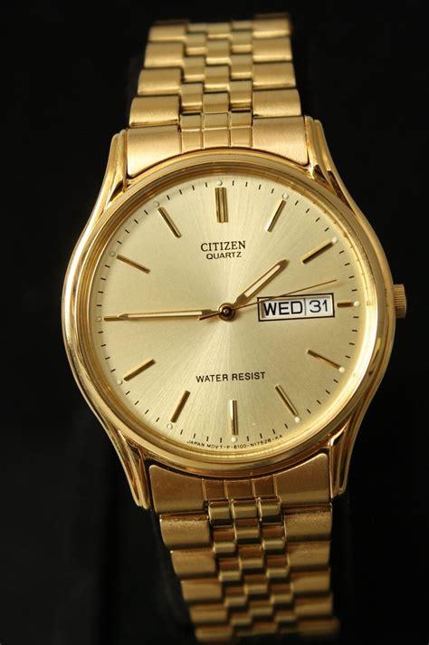 citizen quartz vintage citizen quartz water resistant goldtone s