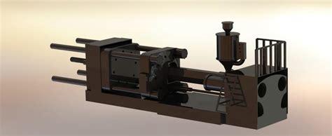 9 Moulding 3d injection molding machine step iges solidworks 3d