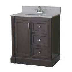 Vanity For Bathroom Lowes Allen Roth 31 In Espresso Kingsway Traditional Bath