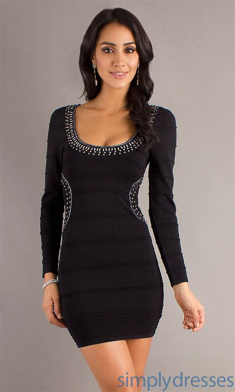 Various Long Sleeve Dresses For Different Occasions Black Sleeve