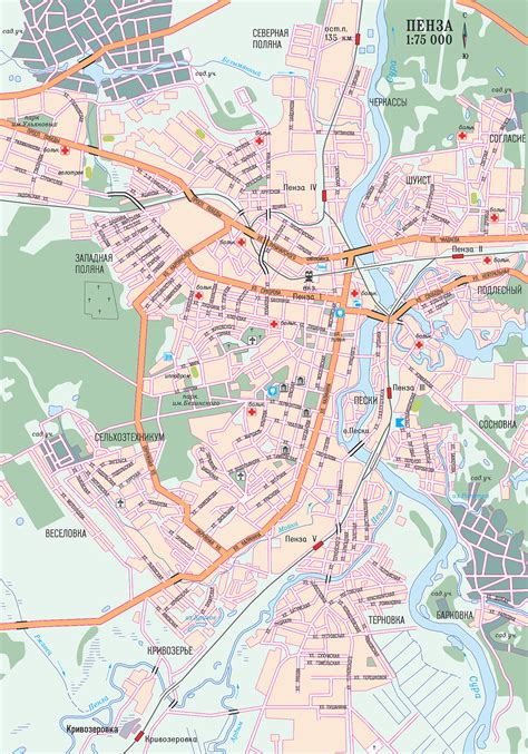 russia penza map map of penza city maps of russia planetolog