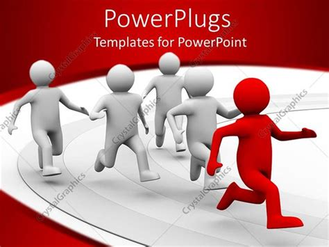 Powerpoint Template A 3d Design Giving The Concept Of Leadership With White Background 18673 Leadership Powerpoint Templates