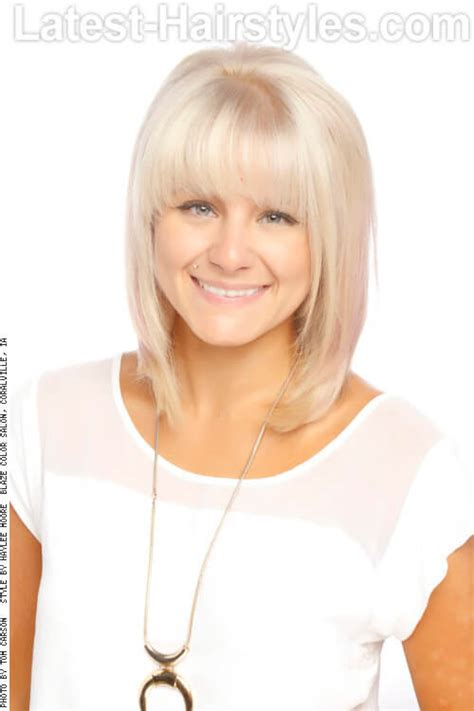 a frame hairstyles with bangs the newest hottest haircuts for oval faces
