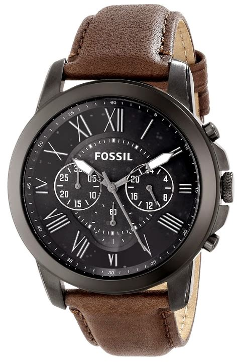 Leather Fossil fossil watches for