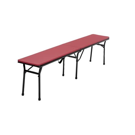 center bench 6 center fold bench with handle in red set of 2