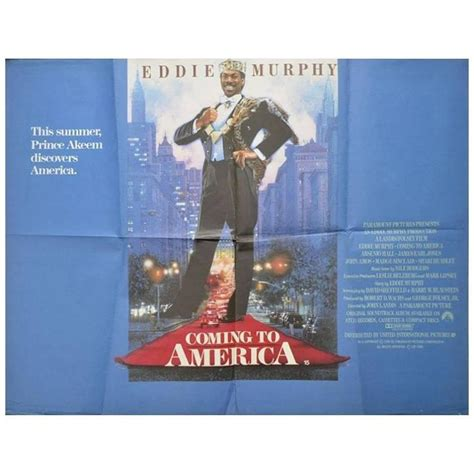 coming to america couch quot coming to america quot poster 1988 for sale at 1stdibs