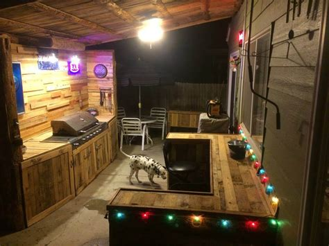 Cheap Backsplash Ideas For The Kitchen by Upcycled Pallet Outdoor Kitchen
