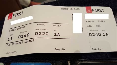 emirates boarding pass review of emirates flight from melbourne to kuala lumpur