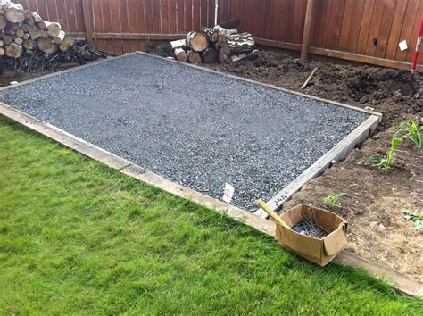 Preparing Base For Shed by A Craig Walker S