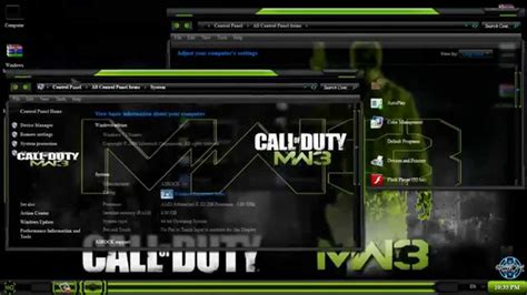 download theme windows 7 call of duty modern warfare 3 windows 7 theme call of duty modern warfare 3 youtube