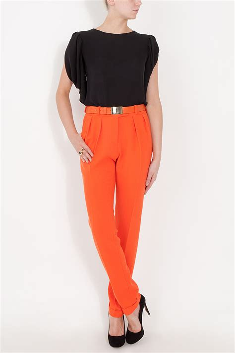 Belt Pant lyst preen by thornton bregazzi clip belt in orange