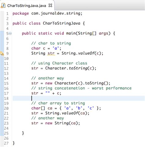 java pattern to convert one object to another convert char to string in java journaldev