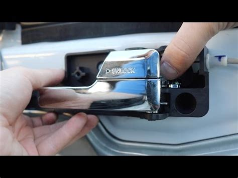 2007 Ford Fusion Interior Door Handle Replacing Broken Inside Door Handle On 2007 Ford Fusion How To Save Money And Do It Yourself