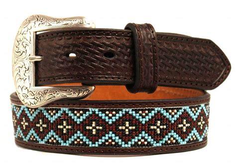 western beaded belts nocona western mens belt basket beaded inlay embossed