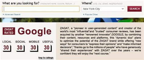 Zagat Search Buys Zagat A Marriage Between And New Media Search Engine Journal