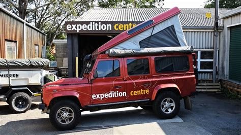 range rover truck conversion land rover defender pop top cer conversion youtube
