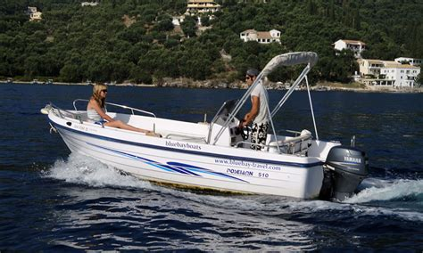 boat hire kassiopi prices seastar 25 corfu kalami boat hire blue bay boats