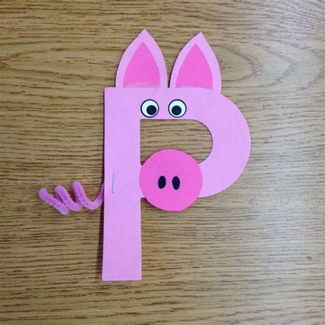 pig crafts for p is for pig craft alphabet crafts ps