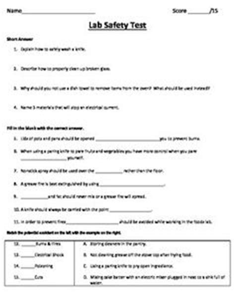 Kitchen Safety Test Answers by 15 Best Images Of C Cooking Safety Worksheet Kitchen