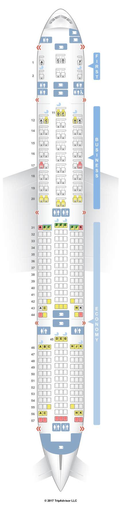singapore airlines 777 300er seating plan seatguru seat map singapore airlines boeing 777 300 773