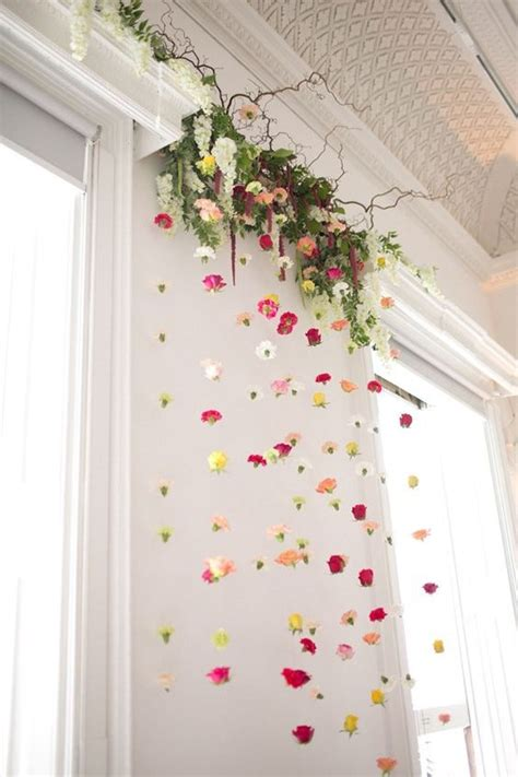 How To Decorate Home With Flowers by 25 Best Ideas About Flower Wall Decor On Diy