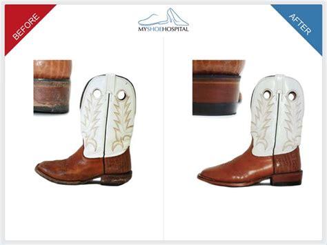 cowboy boot heel repair images