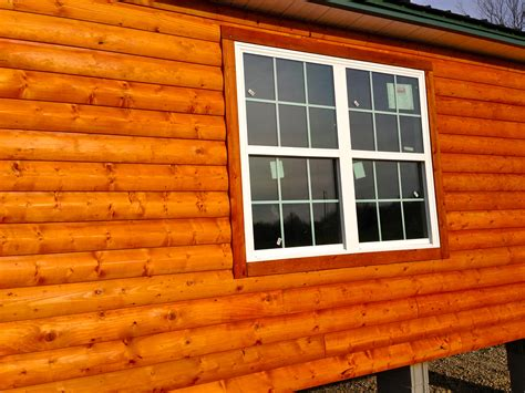 log home style siding standards upgrades rollaway homes of oklahoma rtm