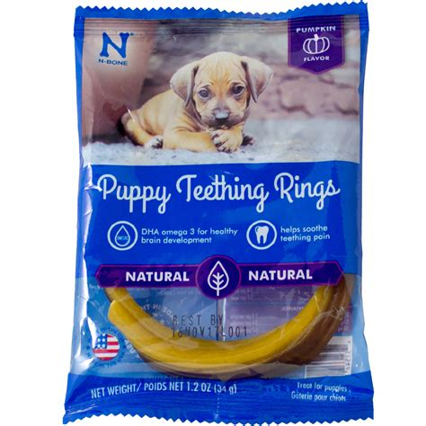 puppy teething ring n bone 174 puppy teething ring pumpkin flavor single healthypets